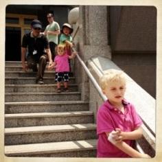 Mandatory pagoda visit - thrilled kids