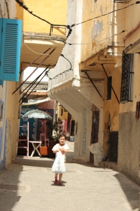 loved this little girl with Dora shirt, carrying groceries around medina where anyone can get lost