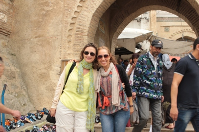 Laura and I in front of the medina