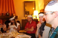 Brazilian, Swede and German, Japanese style, in French hotel in Morocco