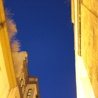 the blue sky over Seville, 1030 pm