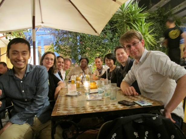 last dinner, from left: Ryo, myself, Lavinia, Rikard, Willa, Laura, Yan Kai, Greg, Daniel