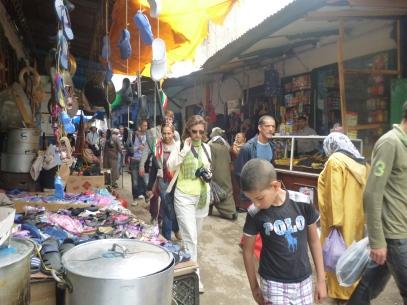 Walking thru the medina in Tetouan