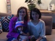 with Mia in my house who insisted on showing Yan Kai her hat