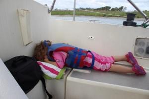 Mia's sailing position