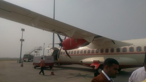 My plane to Allahabad