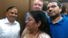 You get very close with people - this is elevator ride - thankfully power on