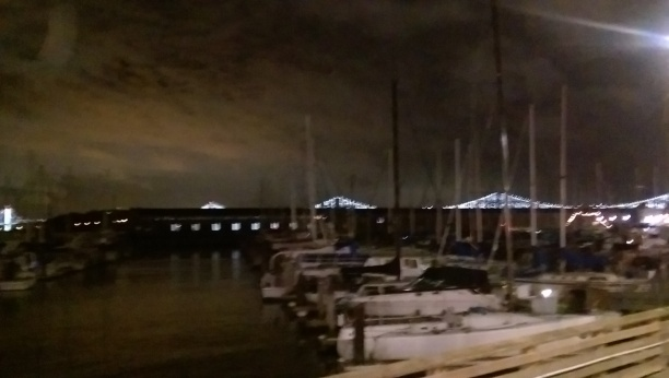 and the Bay bridge, late, dark - not my best shot