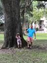 hugging the tree in Savannah